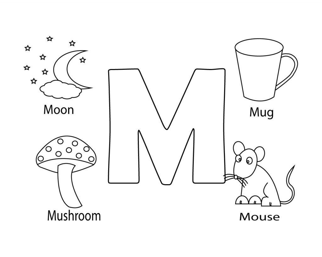 Coloring pages that start with the letter m