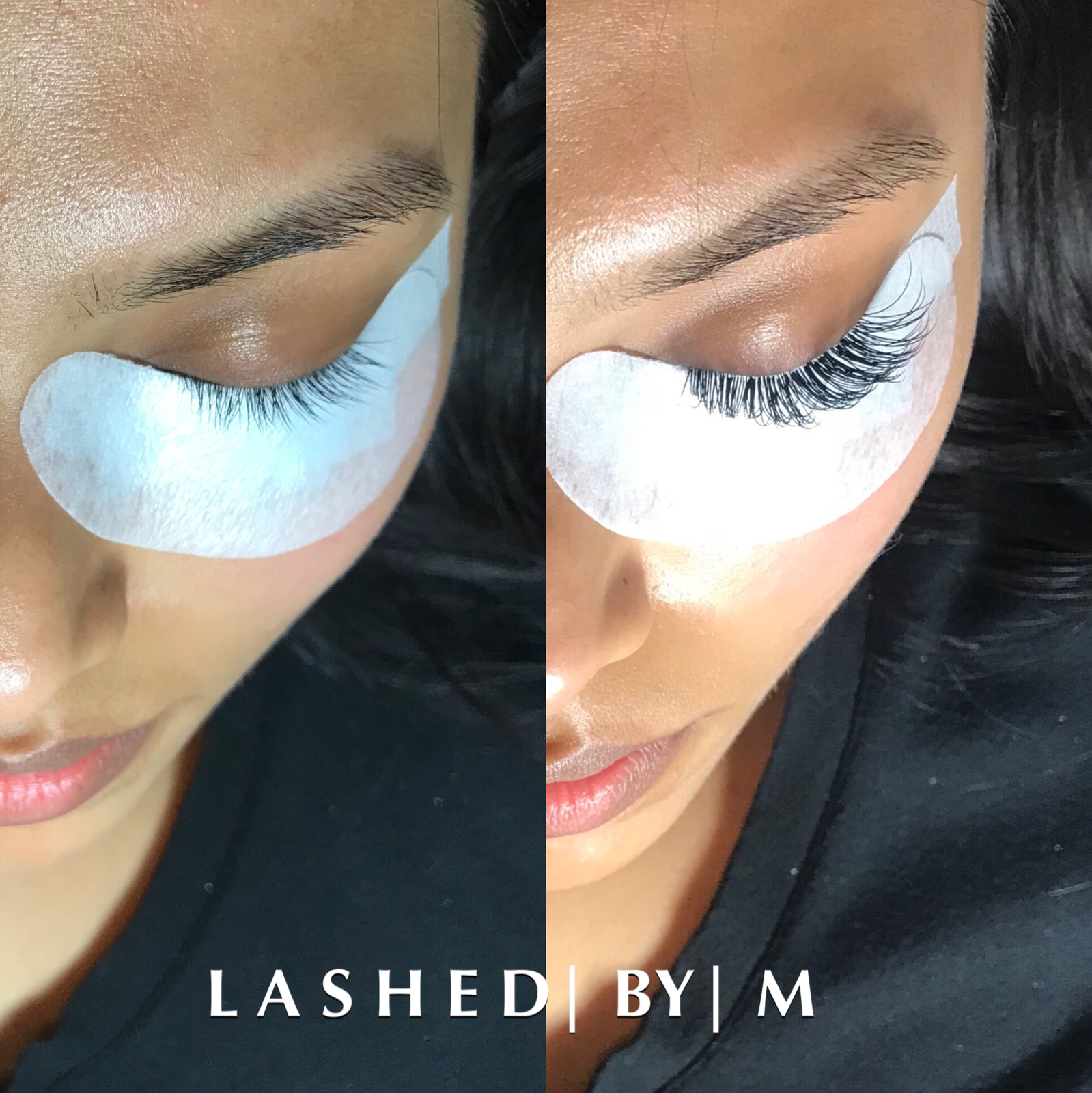 Before and after Classic Lash Extensions by Monique ...