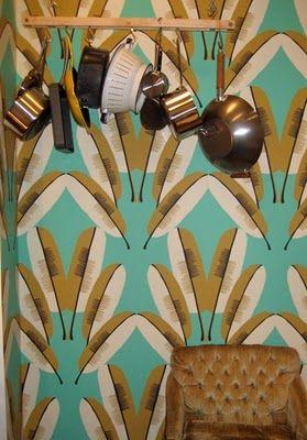 Cavern Home | Navajo wallpaper in Turquoise | Wallpaper. via Cavern Wallpaper