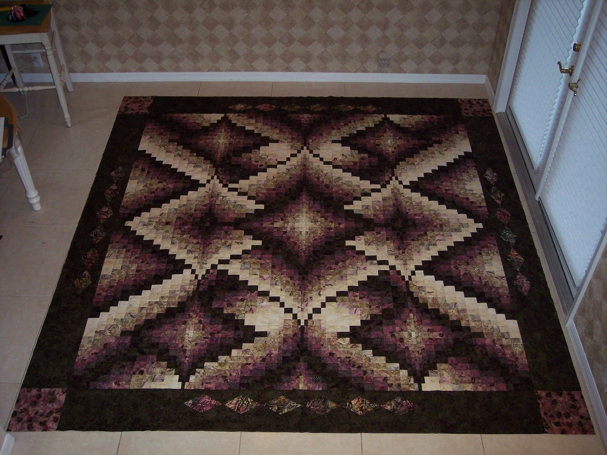 diamonds jubilee bargello quilt pattern by nancy smith with a