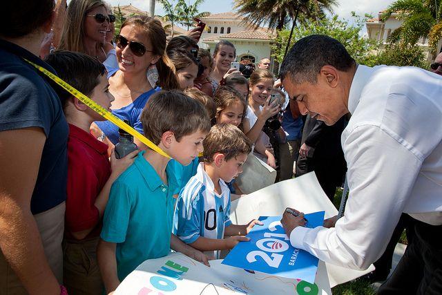 Obama con un chico argentino