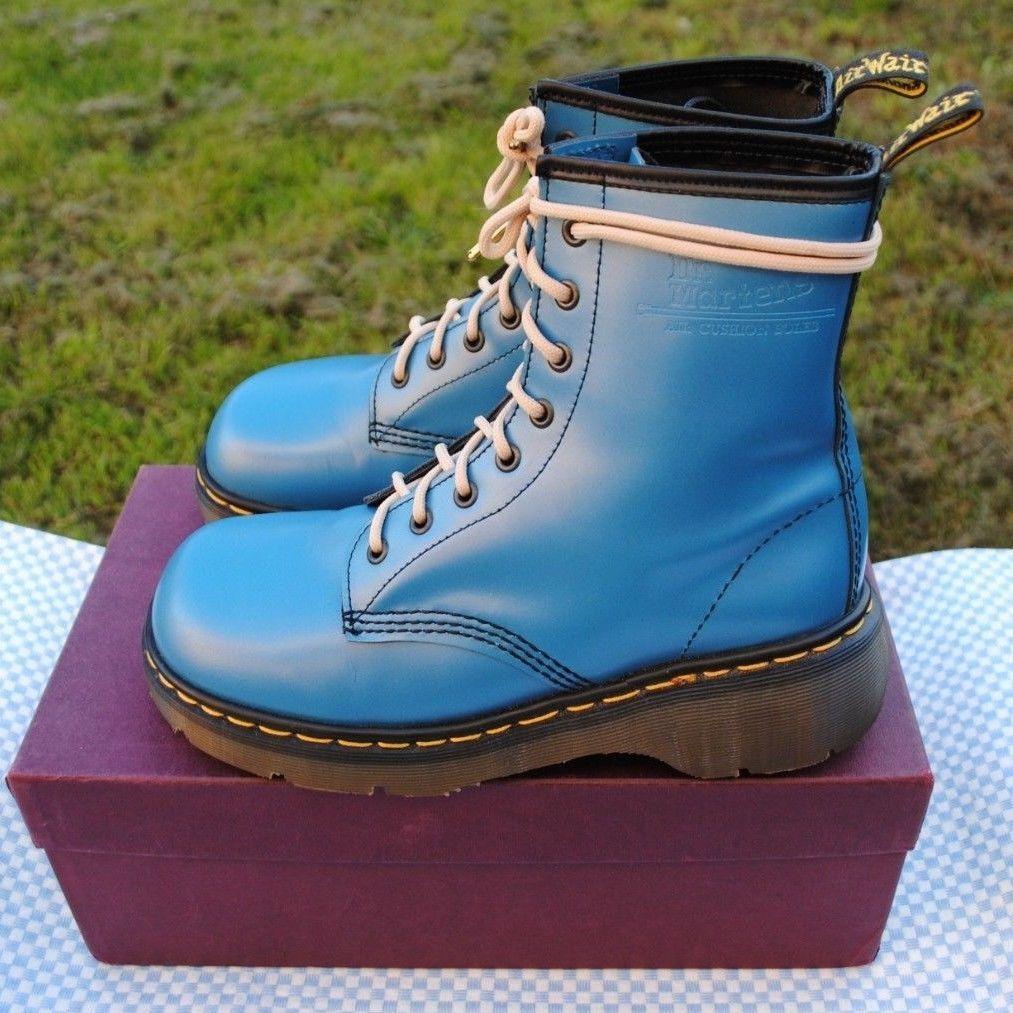 Rare Vintage Dr. Martens Black Floral Boots Womens US Sz 7 UK 5 Made In England