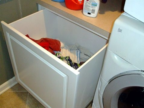 Custom built in laundry hamper | Laundry | Pinterest | Laundry ...