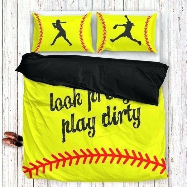 Softball Clm190810m Bedding Sets Azcozy Softball Bedding Set Softball Bedroom Softball Room
