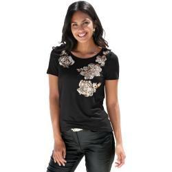 Photo of Amy Vermont, Shirt mit Paillettendekoration in floraler Form, schwarz Amy Vermont