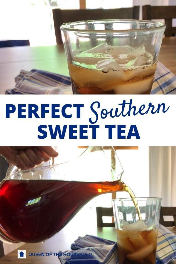 Perfect Southern Sweet Tea Recipe - Queen of the Household #summersouthernfood