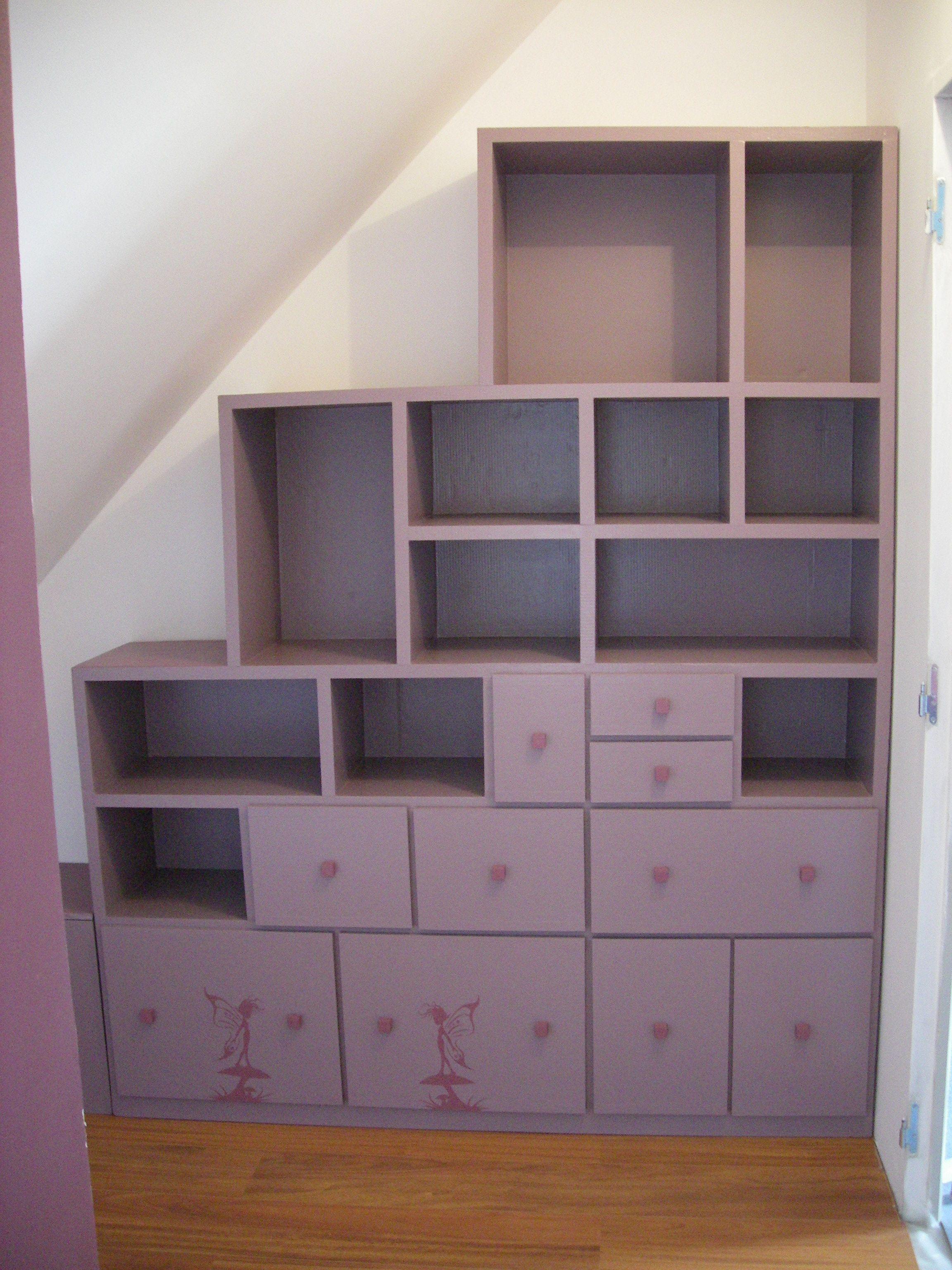 Muebles de Cartón SG, armarios bajo pendiente www.mobilier-carton ...