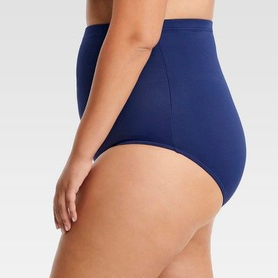 d51ba1834b Plus Size Dreamsuit by Miracle Brands Women s Plus Slimming Control Ultra  High Waist Bikini Bottom - Navy (Blue) 16W