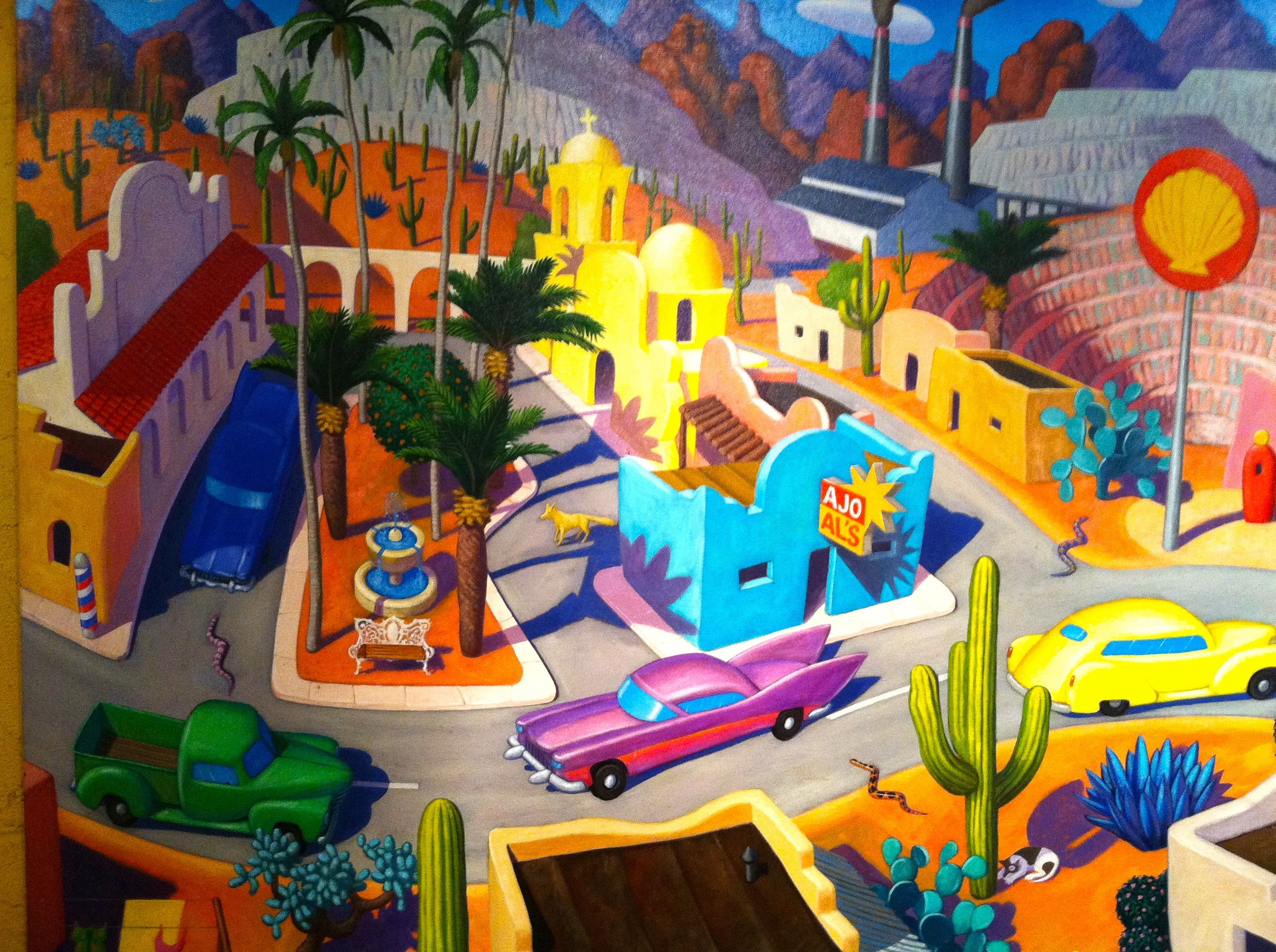 AJO ALS Mexican Cafe Glendale AZ Mexican art, Painting