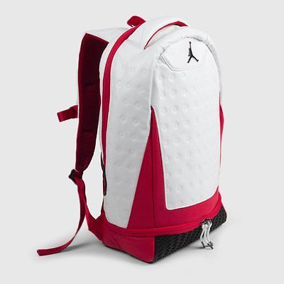 1101fa388642 Air Jordan 13 Retro Cherry Backpack - NEW - 9A1898-001 XIII Chicago White  Red OG