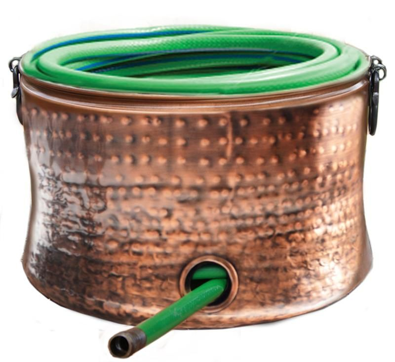 Our Copper Plated Hose Holder/Storage Pot With Stylish Black Handles Is Not  Only Functional
