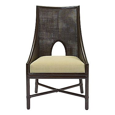 McGuire Furniture: Barbara Barry Caned Arm Chair: M-262