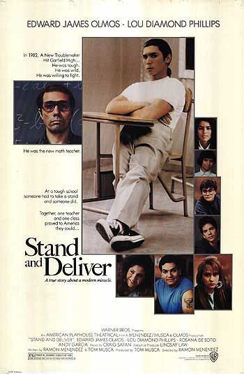 1208 Stand and Deliver (1988) | Stand and deliver, Good ...