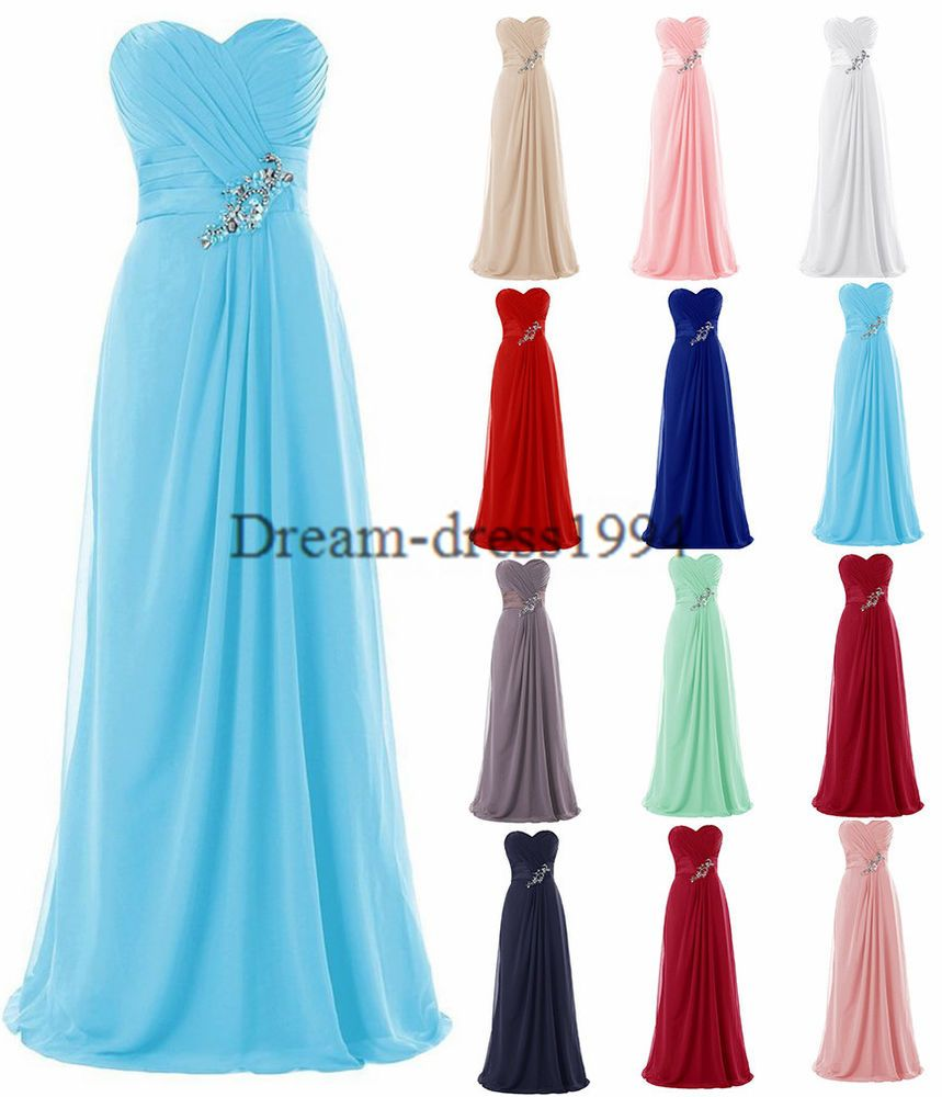 Plus Size STOCK Full Formal Evening Party Ball Prom Bridesmaid ...