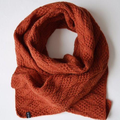 Écharpe, tricoté main, laine, alpaga, orange, losanges   Scarves ... 17ef0177bda