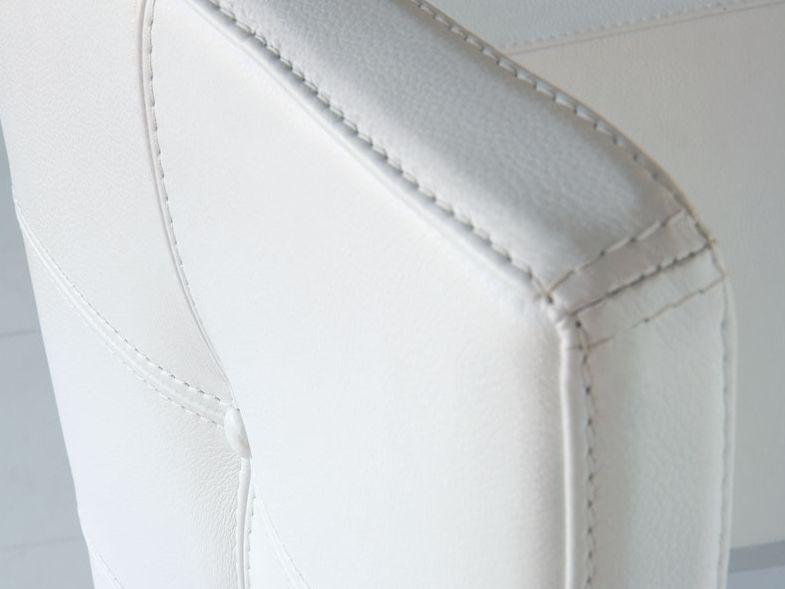 Sedia a slitta imbottita in pelle in stile moderno NIZZA - ITALY DREAM DESIGN
