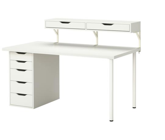 Ikea Schreibtisch Weiss Enden Sie Mit 3 Ekby Tore Halterung