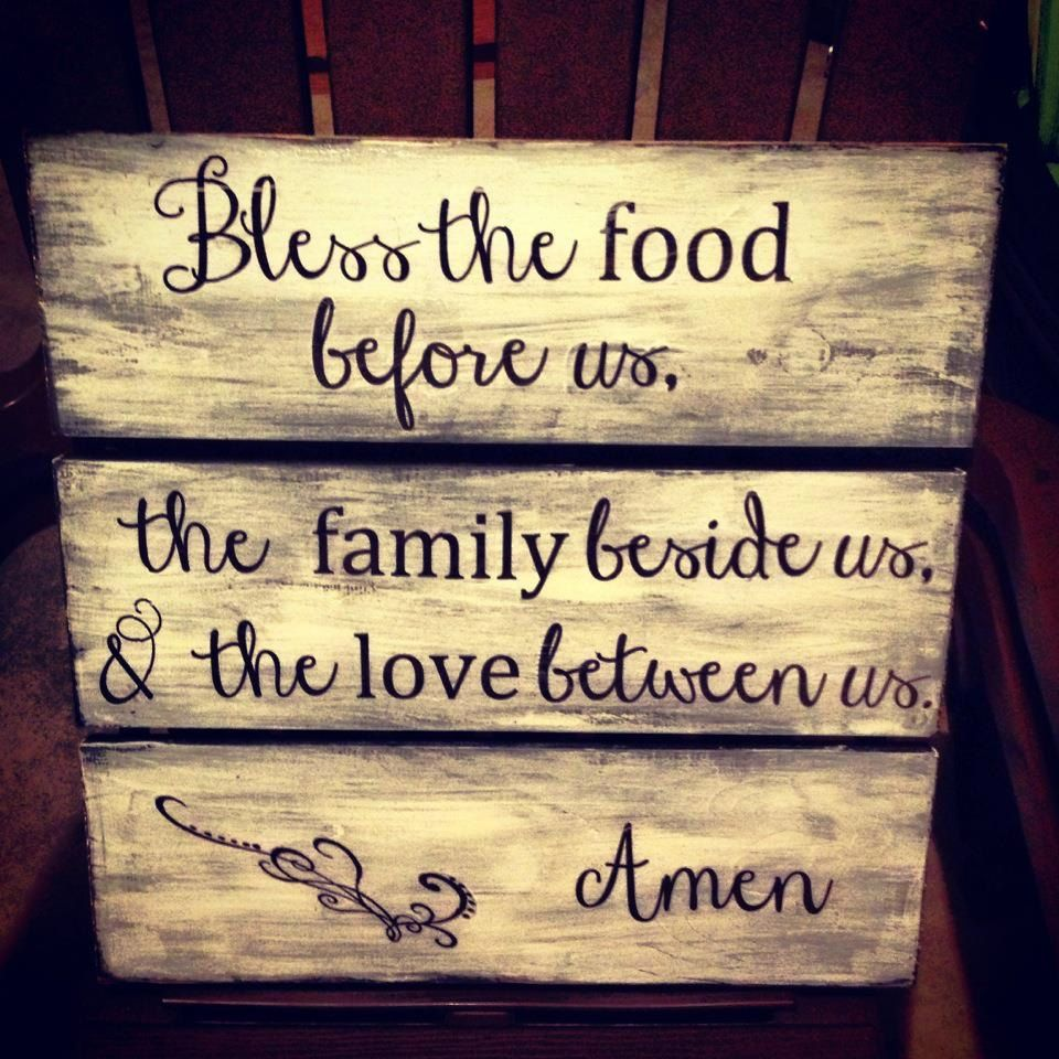 Custom Made Large Handmade Wooden Kitchen Dining Room Family Sign ...