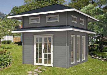 Ein Gartenhaus mit Schlafboden Mehr Platz zum Übernachten