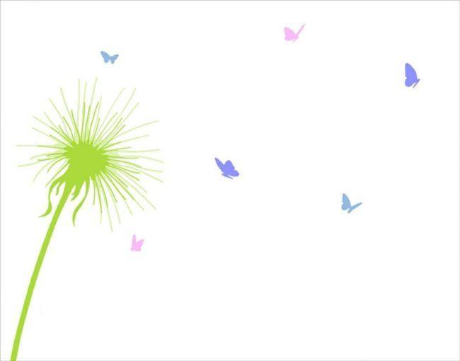 fingerabdruck-baum-vorlage-pusteblume-schmetterlinge-natur
