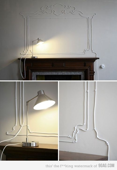 Don\u0027t like to see your cables? try this! Luminaires, Deco murale - Couleur Des Fils Electrique