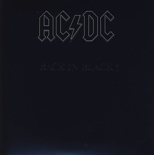Ac Dc Back In Black Back To Black Black Vinyl Black