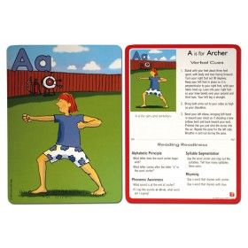 learn with yoga™ abc yoga cards for kids combine the
