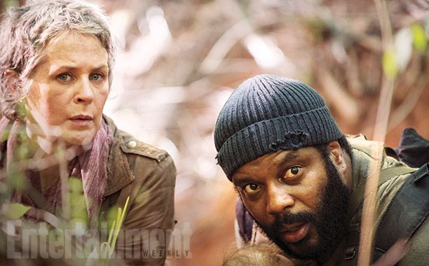 Carol (Melissa McBride) e Tyreese (Chad L. Coleman) na 5ª Temporada