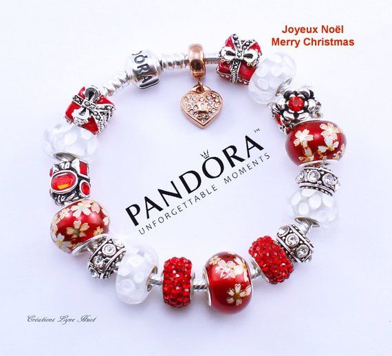 Joyeux Noël- Bracelet PANDORA argent sterling 925 avec tous les ...