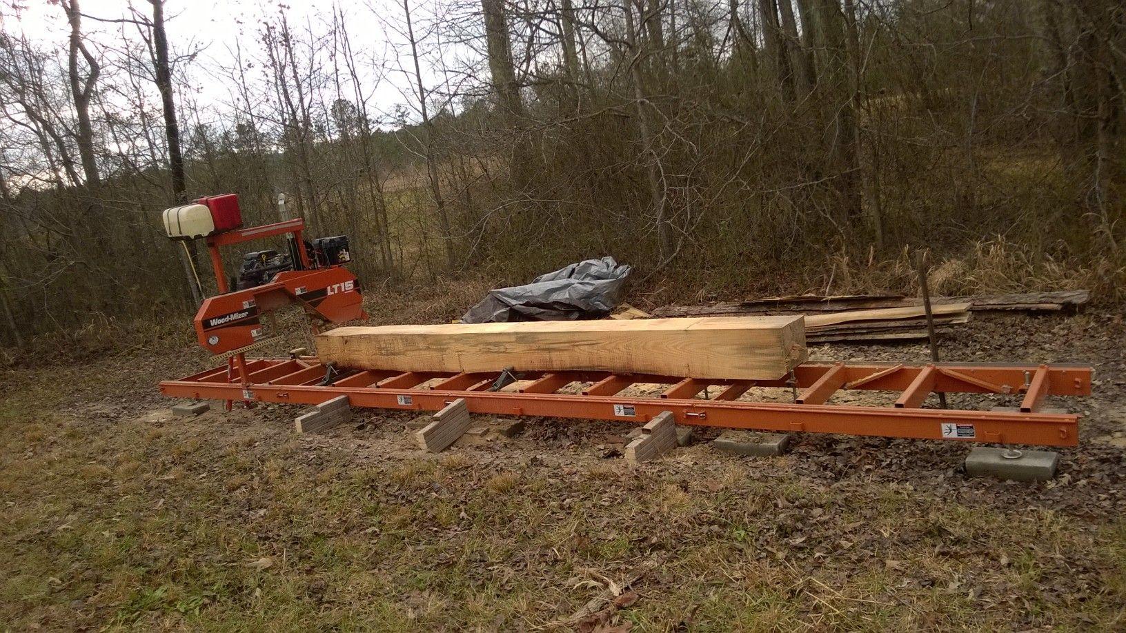 WoodMizer LT15 sawmill at our farm    WoodMizer LT15 Sawmill