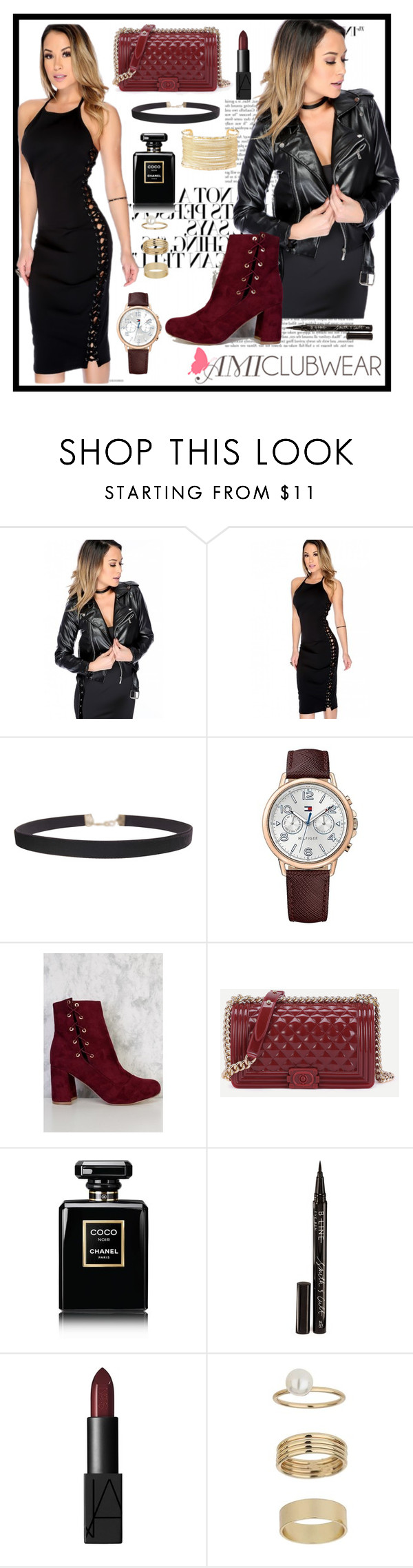 """""""Amiclubwear 22"""" by b-necka ❤ liked on Polyvore featuring Humble Chic, Tommy Hilfiger, Chanel, Smith & Cult, NARS Cosmetics, Miss Selfridge and Charlotte Russe"""