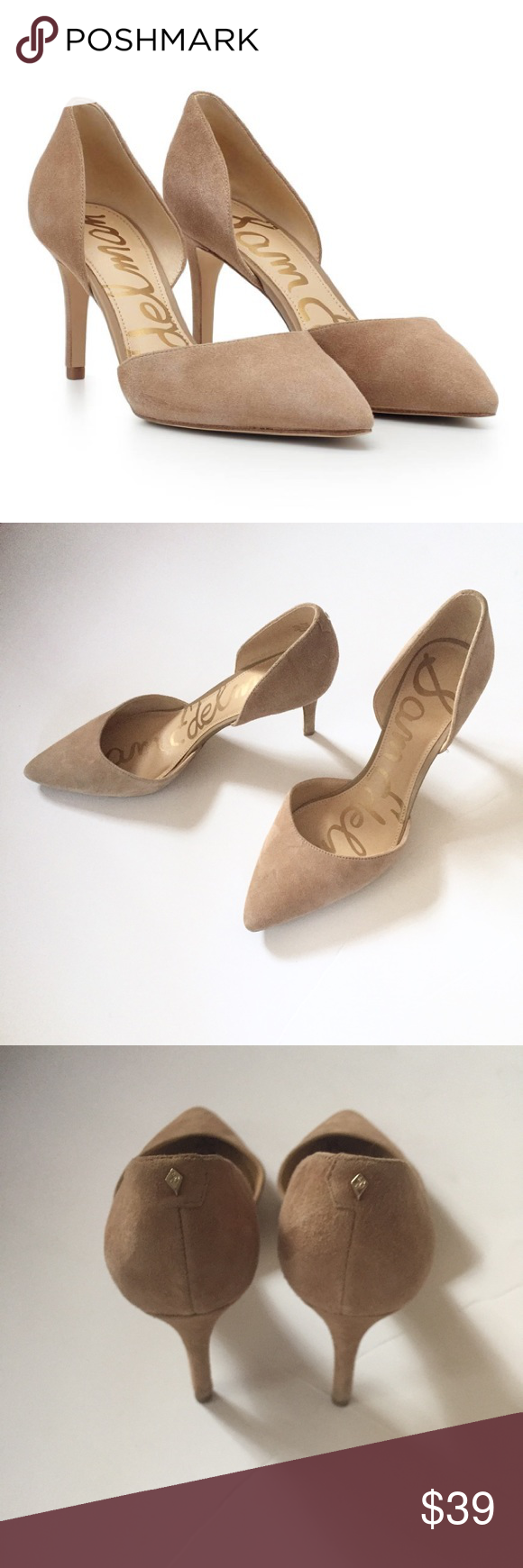d4e8559b2 Sam Edelman Telsa D Orsay Pointed Toe Stilettos Worn a couple of times.  Color  Oatmeal Suede. D Orsay Pointed Toe Stiletto Special Details   D Orsay