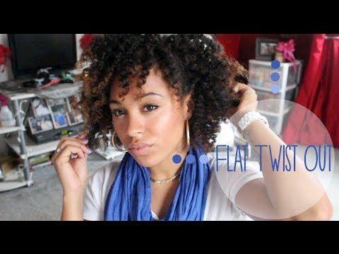 Natural Hair Flat Twist Out on Natural Hair MsAriella89  Curlie Hair Styles