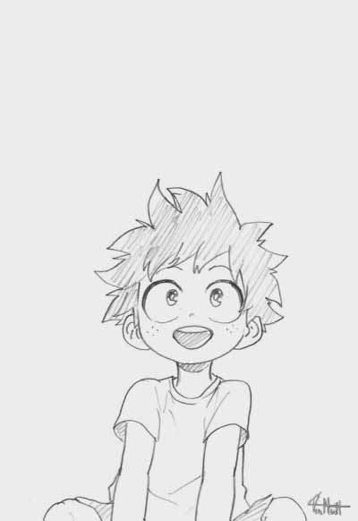 Deku Drawing Easy : drawing, Academia, Collections, Anime, Character, Drawing,, Drawings,, Sketch