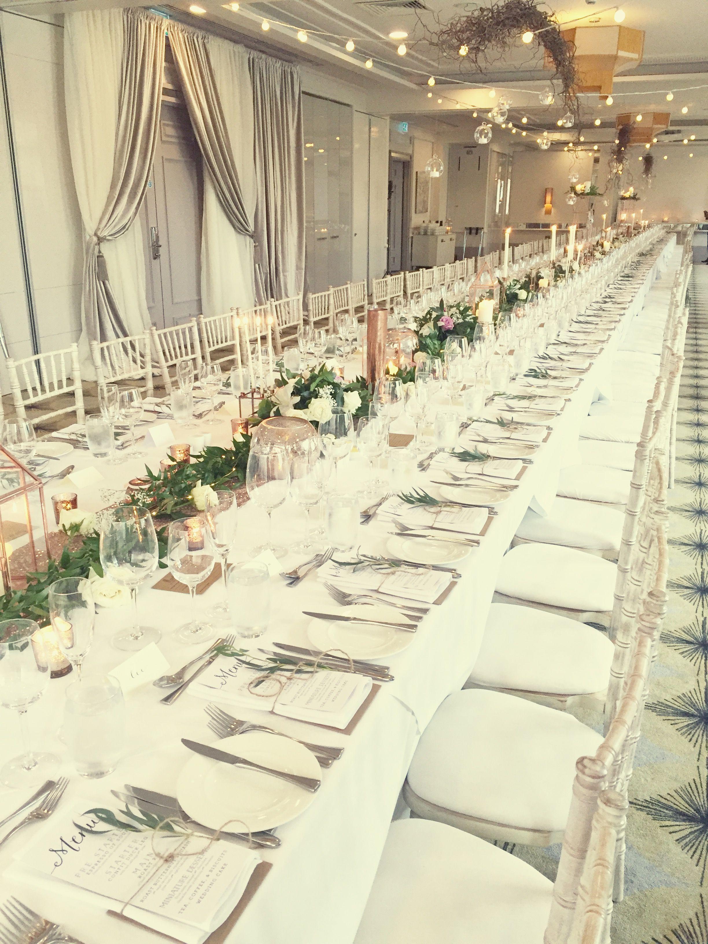 Rose gold and champagne wedding decor | Wedding | Pinterest ...