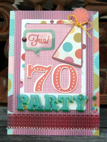 70th Birthday Card Scrapbook Card Making Pinterest 70th