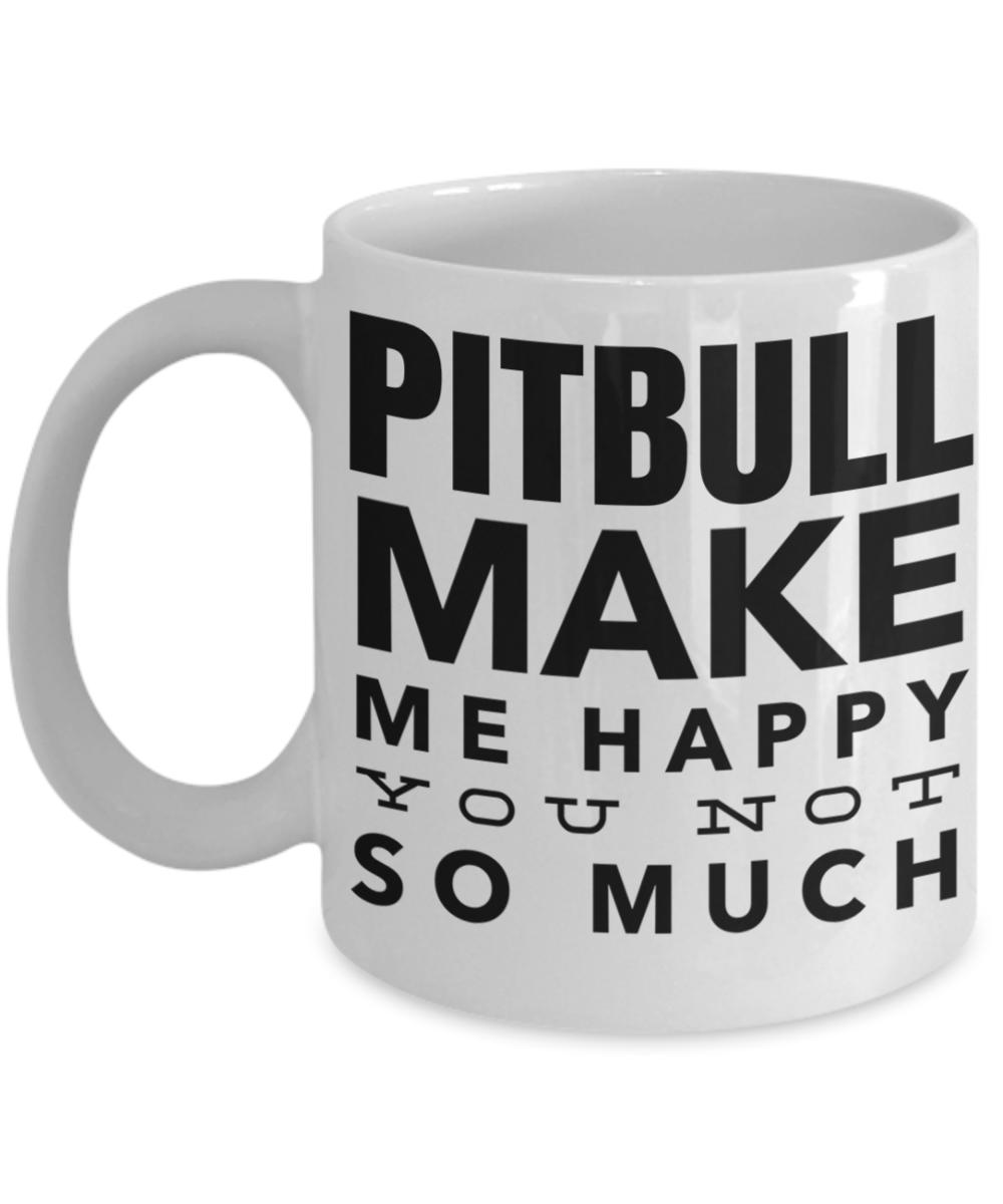 Funny Pit Bull Owner Fur Mom Dad Gift Coffee Mug