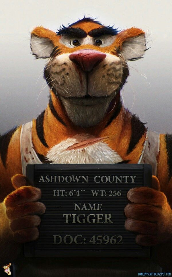 Tigger The Badass Yes I Still Love Tigger In 2019 Evil Cartoon