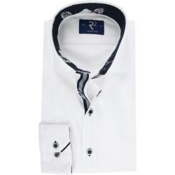 Photo of R2 shirt plain dark blue flower WhiteSuitable.de