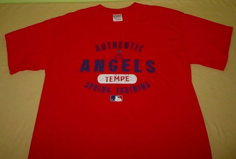 b87e601da Los Angeles Angels of Anaheim MLB T Shirt M medium red spring training az   Gildan  LosAngelesAngels