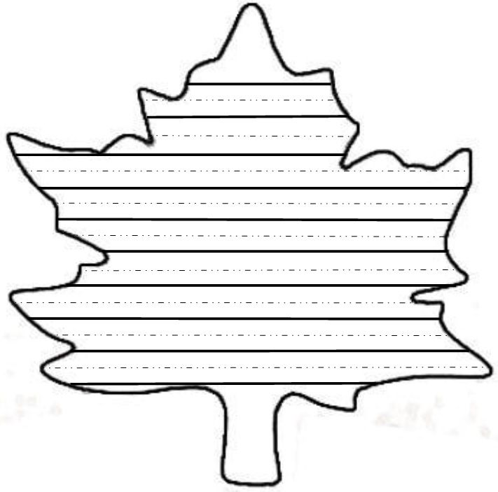 Fall Leaf Template For Writing | Zoshwiki.co