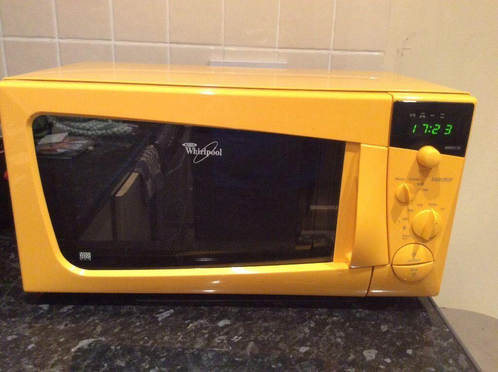 Whirlpool Yellow Microwave