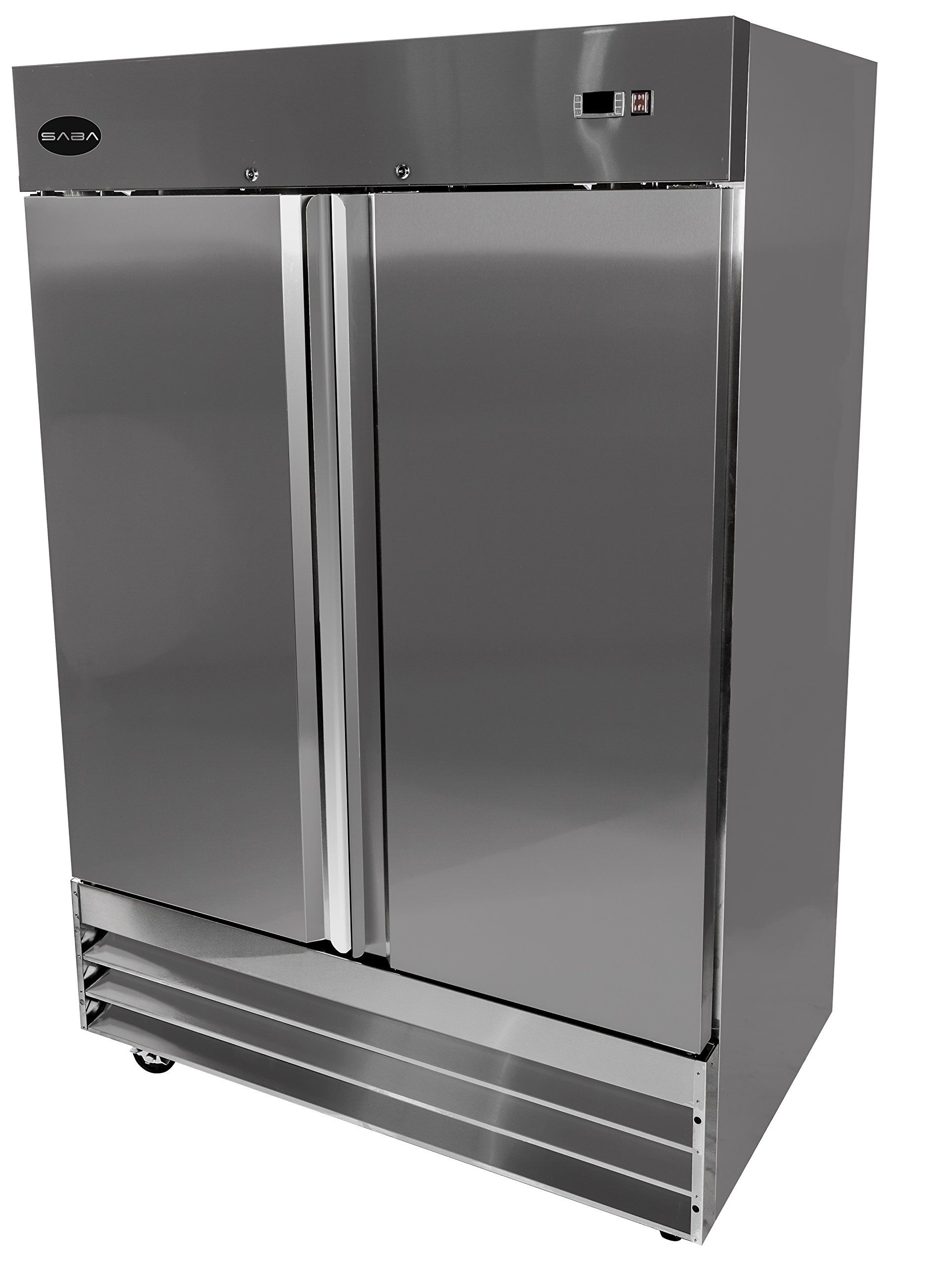 Heavy Duty Commercial Stainless Steel Reach In Refrigerator (54 Two Solid