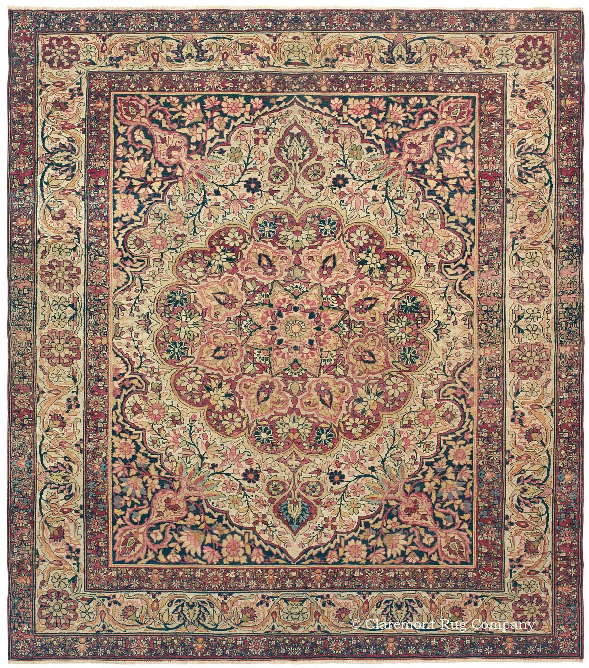 LAVER KIRMAN, Southeast Persian, 7ft 1in X 8ft 3in, Late