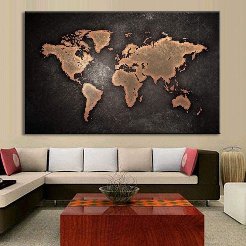 Aliexpress.com: Comprar 1 Unids/set Enorme Negro Mundo Mapa Pinturas ...