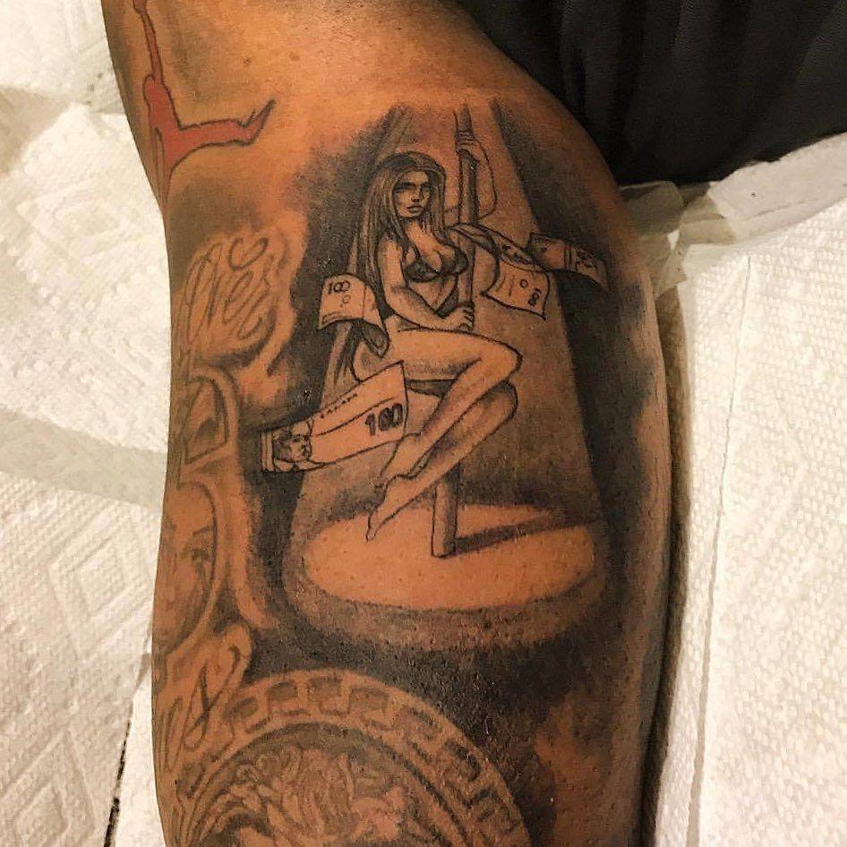 #poledancing #stripper #money #tattoo brought to u by #artist @dainkpusha #inkflow #inklife #cleanwork #dopeink #inkwork #guyswithink #guyswithtattoos #dainkpusha #dainkplug #tattoos for #bookings #dm me