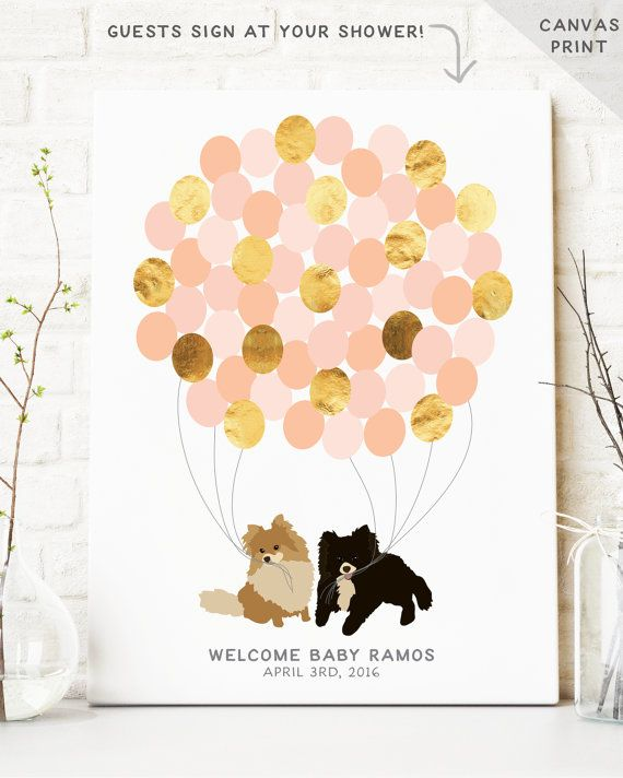 Baby Shower Guest Book Alternative Dog Baby By MissDesignBerryInc