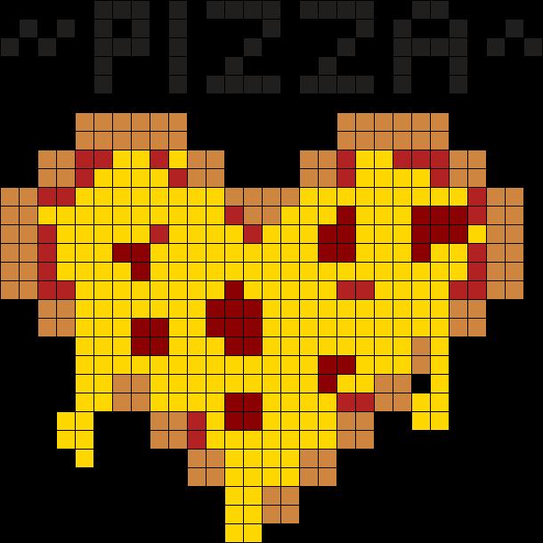 Pizza Perler Bead Pattern Sprite