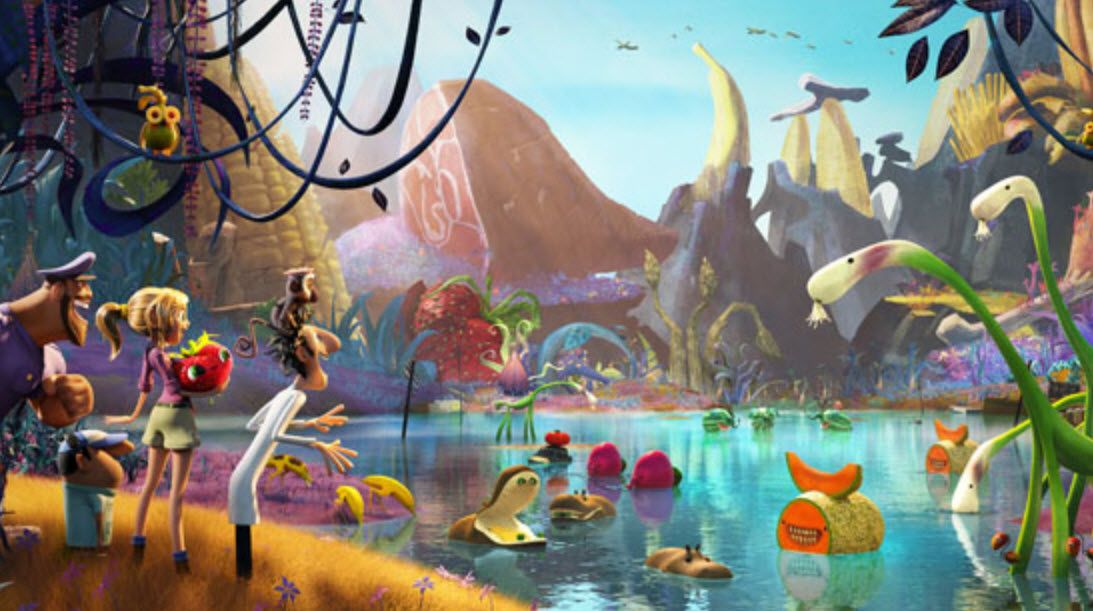 A movie still from Cloudy with a Chance of Meatballs 2 (2013)
