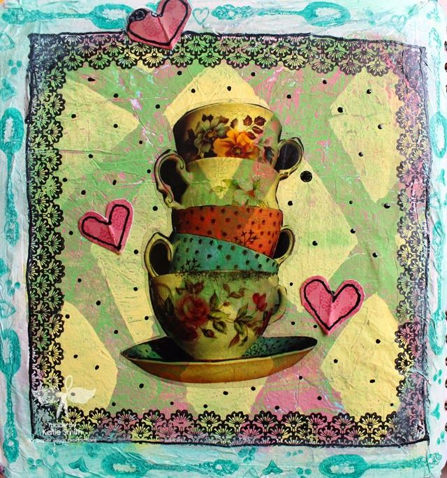 The Aviary: Mixed Media Monday- Tea time